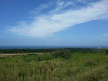 Opinião do mar de uma distância Fotografia de Stock