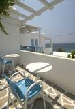 Opinião do mar do apa grego do console Foto de Stock Royalty Free