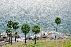 A opinião do mar do monte Fotos de Stock Royalty Free