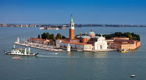 Opinião do mar do panorama de Veneza italy Fotografia de Stock