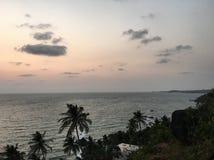 opinião do mar do por do sol imagem de stock royalty free