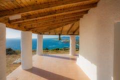 Opinião do mar do terraço Fotografia de Stock Royalty Free