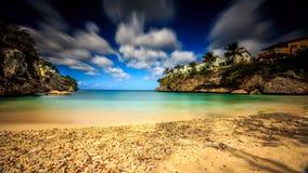 Opinião do mar em Curaçau Fotografia de Stock