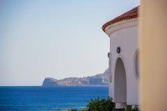 Opinião do mar em Kallithea, Rodos, Grécia Imagens de Stock