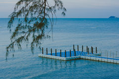 Opinião do mar em Tailândia Fotografia de Stock