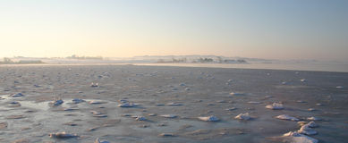 Opinião do mar, estação do inverno Fotos de Stock