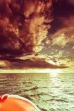 Opinião do mar do iate, tempo ensolarado Fotos de Stock