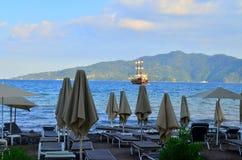 Opinião do mar Marmaris Turquia Fotos de Stock Royalty Free