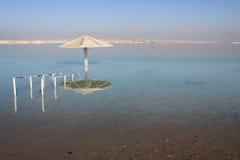 Opinião do Mar Morto, Ein Bokek, Israel Fotos de Stock Royalty Free