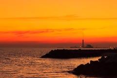 Opinião do mar na noite Imagens de Stock Royalty Free
