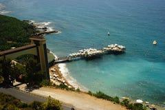 Opinião do mar na praia Imagem de Stock Royalty Free