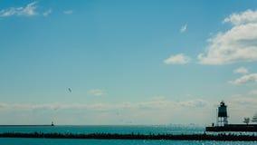 Opinião do mar no cais da marinha Foto de Stock