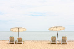 Opinião do mar no dia de relaxamento Fotografia de Stock