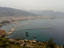 Opinião do mar no porto Imagem de Stock Royalty Free