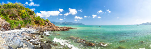 Opinião do mar. panorama Fotos de Stock