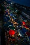 Opinião do mercado da noite Fotografia de Stock Royalty Free