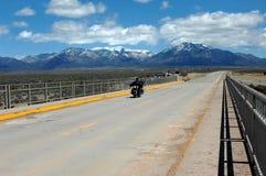 Opinião do motociclista fotografia de stock