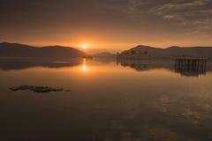Opinião do nascer do sol de Jai Mahal Imagem de Stock Royalty Free