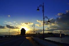 Opinião do nascer do sol de Nessebar Fotografia de Stock Royalty Free