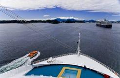 Opinião do navio de cruzeiros Fotos de Stock Royalty Free