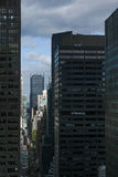 Opinião do olho do ` s do pássaro urba da rua do Manhattan, New York City 40th Fotos de Stock
