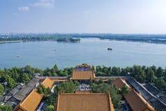 Opinião do pássaro do lago Kunming imagens de stock royalty free