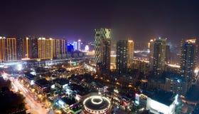 Opinião do pássaro em Wuhan China imagens de stock
