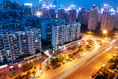 Opinião do pássaro em Wuhan China foto de stock royalty free