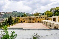 Opinião 02 do palácio de Beiteddine fotos de stock royalty free