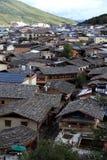 Opinião do panorama da cidade de Shangri-La fotografia de stock royalty free