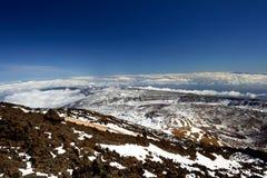 Opinião do panorama da montanha de Teide Fotos de Stock Royalty Free