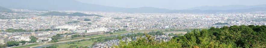 Opinião do panorama de Arashiyama foto de stock