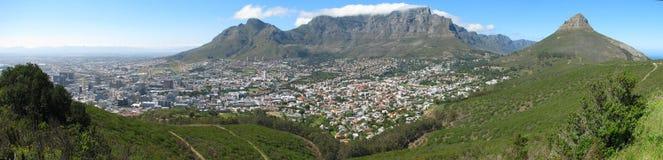 Opinião do panorama de Cape Town do monte do sinal imagens de stock royalty free