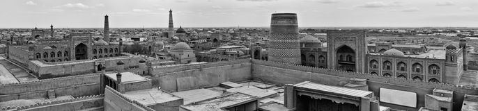 Opinião do panorama de Khiva Foto de Stock