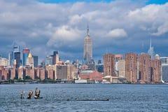 Opinião do panorama de New York fotos de stock royalty free