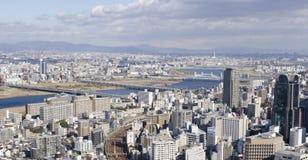Opinião do panorama de Osaka e de Toyonaka Imagem de Stock Royalty Free