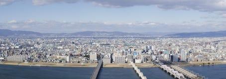 Opinião do panorama de Osaka e de Toyonaka Fotos de Stock Royalty Free