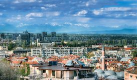 Opinião do panorama de Plovdiv imagens de stock royalty free