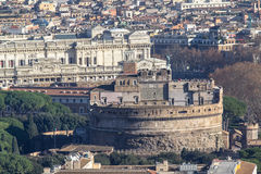 Opinião do panorama de Roma de Saint Peter Cathedrale Imagem de Stock