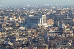 Opinião do panorama de Roma de Saint Peter Cathedrale Foto de Stock