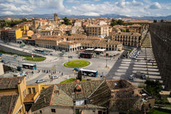 Opinião do panorama de Segovia, Espanha Imagens de Stock