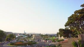 Opinião do panorama de Tbilisi, Geórgia video estoque