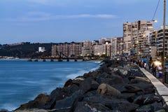 Opinião do panorama de Vina del Mar no por do sol foto de stock royalty free