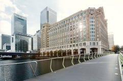 Opinião do panorama do cais amarelo Fotografia de Stock Royalty Free
