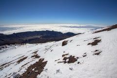Opinião do panorama do vulcão Teide em Tenerife, Espanha imagem de stock
