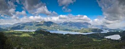 Opinião do panorama dos lagos, Argentina Fotos de Stock Royalty Free