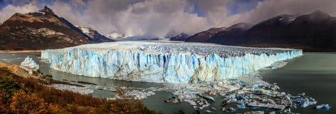 Opinião do panorama no Perito Moreno Glacier, Patagonia, Argentina Foto de Stock Royalty Free