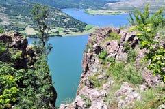 Opinião do panorama a represa Fotografia de Stock Royalty Free