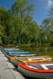 Opinião do parque com barcos imagem de stock royalty free