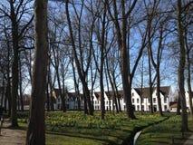 Opinião do parque em Bruges Imagem de Stock